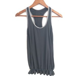 lululemon Run Energy Tank Top- Charcoal Grey